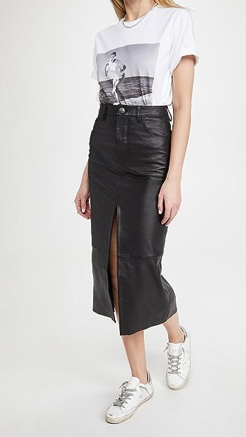 One Teaspoon Lola Leather Long Skirt