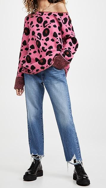 One Teaspoon Leopard Wool Mix Knit Sweater