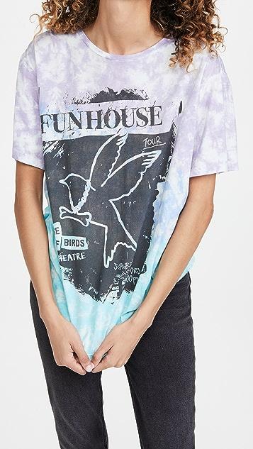 One Teaspoon Tie Dye Fun House Boyfriend Tee