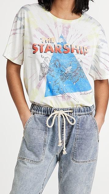One Teaspoon Starship 扎染男孩风 T 恤