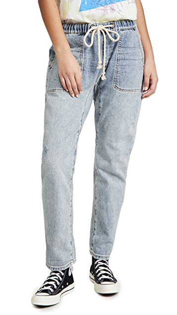 One Teaspoon Montana Shabbies Drawstring Boyfriend Jeans
