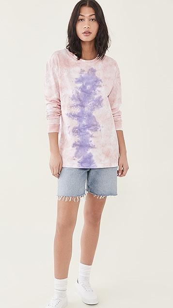 One Teaspoon Lilac Smoke Tie Dye Long Sleeve Tee