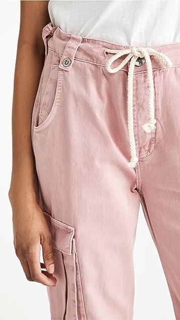 One Teaspoon Dirty Pink Cargo Safari Mid Waist Relaxed Jeans