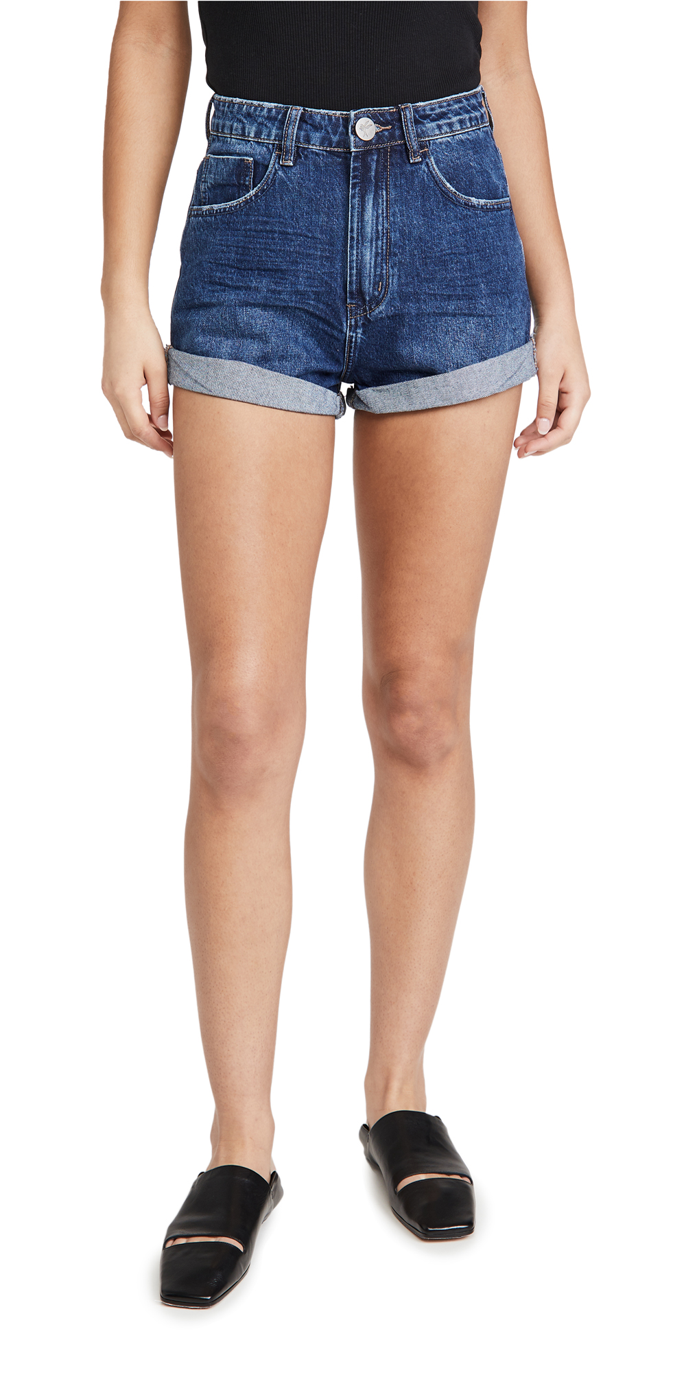 One Teaspoon Dakota Bandits High Waist Denim Shorts