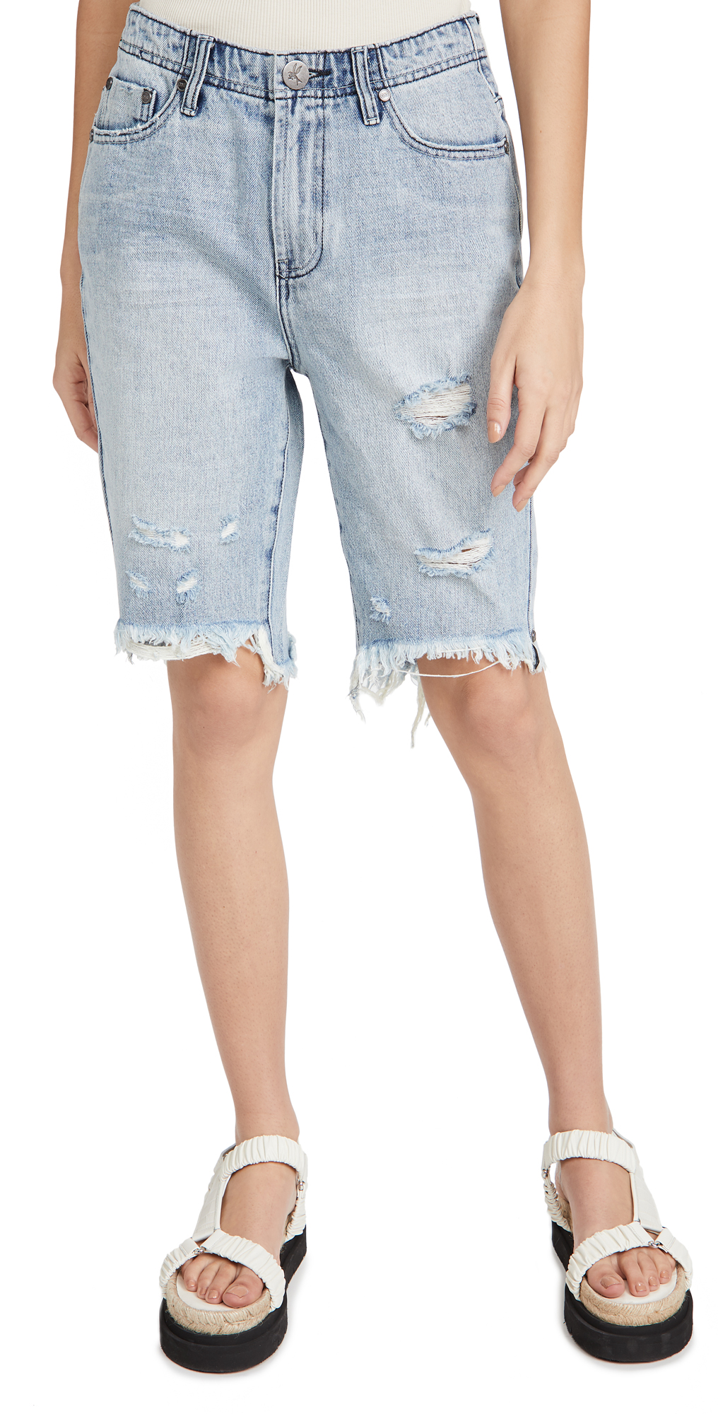 One Teaspoon Salty Dog Cutoff Trucker Shorts