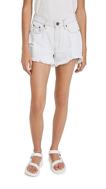 One Teaspoon Bel Air Blue Trucker Shorts