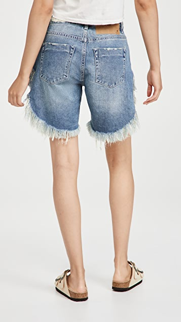 One Teaspoon Rodeo Blue Frankies 牛仔布短裤