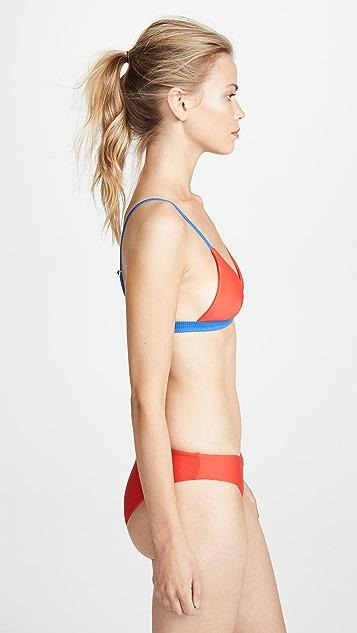 Onia Danni Colorblock Bikini Top