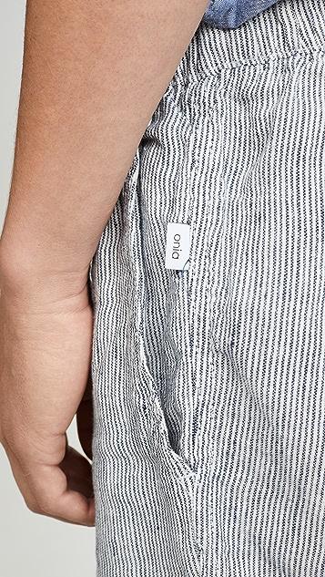 Onia Noah Linen Micro Stripe Shorts