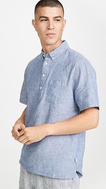 Onia Josh Linen Short Sleeve Shirt