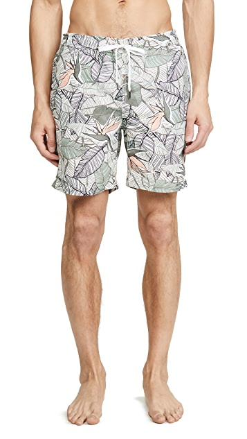 Onia Charles 7 Birds Of Paradise Swim Trunks