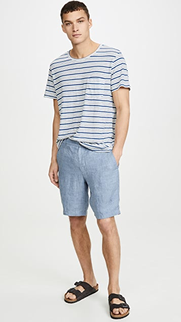 Onia Chad Striped Short Sleeve Tee
