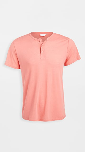 Onia Elliot Short Sleeve Henley