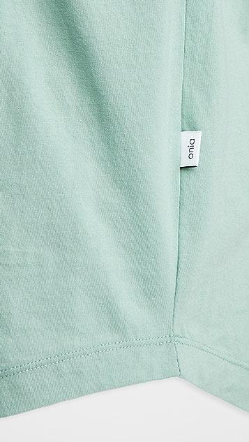 Onia Ivan Short Sleeve Henley Shirt