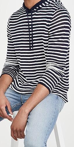 Onia - Hooded Knit Linen Sweatshirt