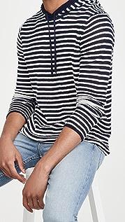Onia Hooded Knit Linen Sweatshirt
