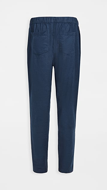Onia Stretch Linen Pull On Pants