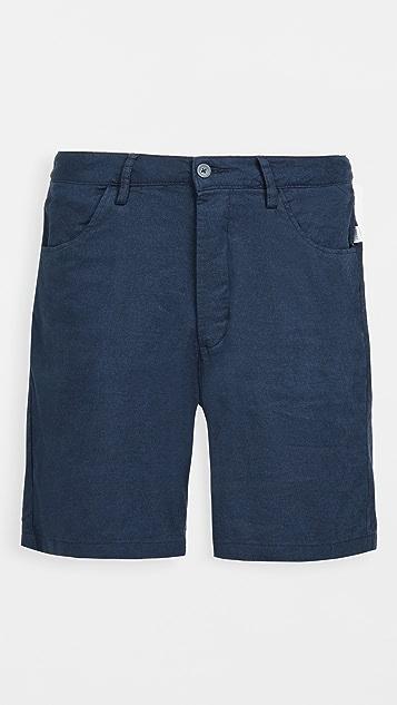 Onia Stretch Linen Traveler Shorts