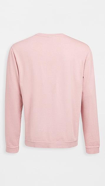 Onia Garment Dye Crew Neck Sweatshirt