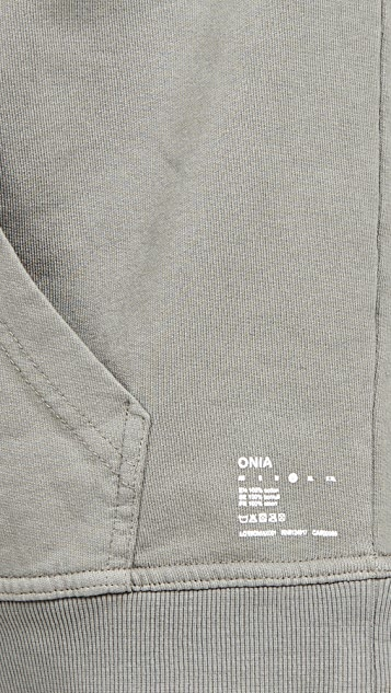 Onia Garment Dye Pullover Hoodie