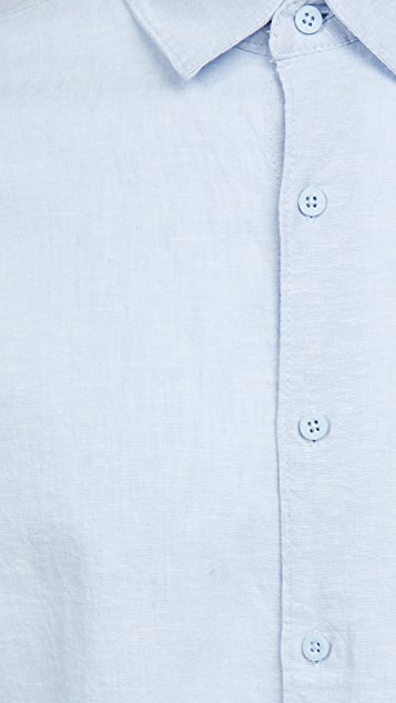 Onia Stretch Linen Rollon Shirt