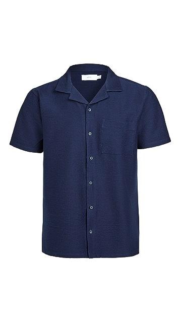 Onia Seersucker Camp Shirt