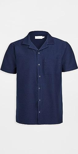 Onia - Seersucker Camp Shirt
