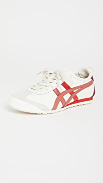오니츠카 타이거 Onitsuka Tiger Mexico 66 Sneakers,Cream/Red Brick