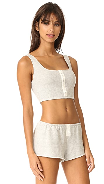 Only Hearts French Terry Longline Bralette