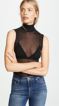 Tulle Turtleneck Tank