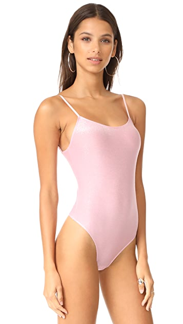 Only Hearts Metallic Jersey Low Back Bodysuit