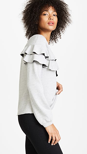 Only Hearts Ruffle Sweatshirt