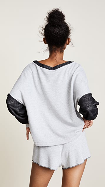 Only Hearts French Terry Drop Shoulder Sweatshirt