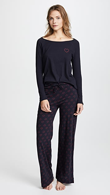 Only Hearts Twin Hearts PJ Set