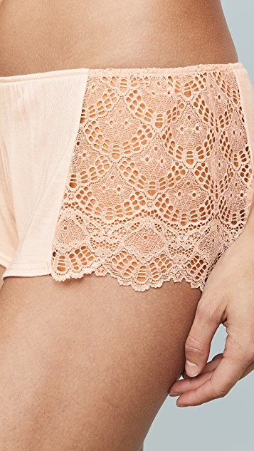 Only Hearts Venice Hipster Shorts with Lace Insets