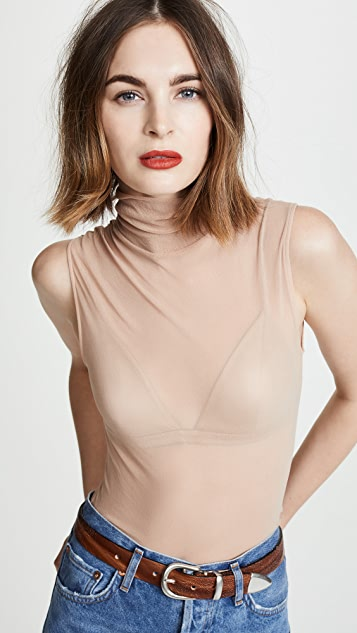 Only Hearts Tulle Sleeveless Turtleneck