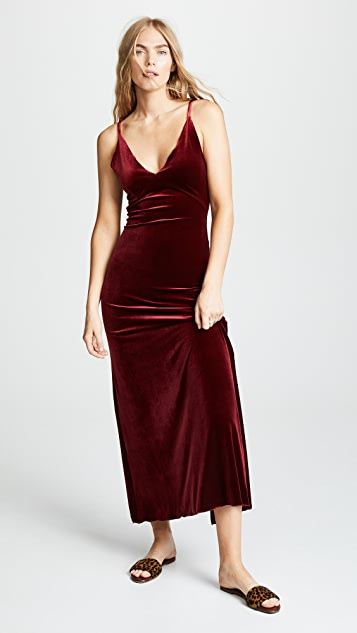 Only Hearts Velour Slip Dress