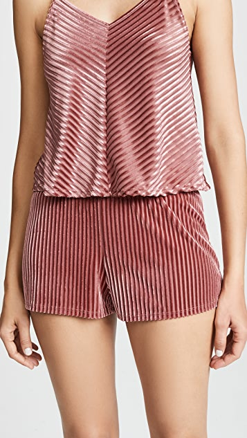 Only Hearts Velour Rib Sleep Shorts