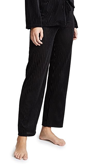 Only Hearts Velour Rib PJ Pants