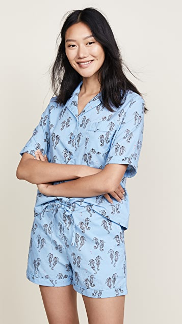 Only Hearts Sleep To Dream Sea Horse PJ Set
