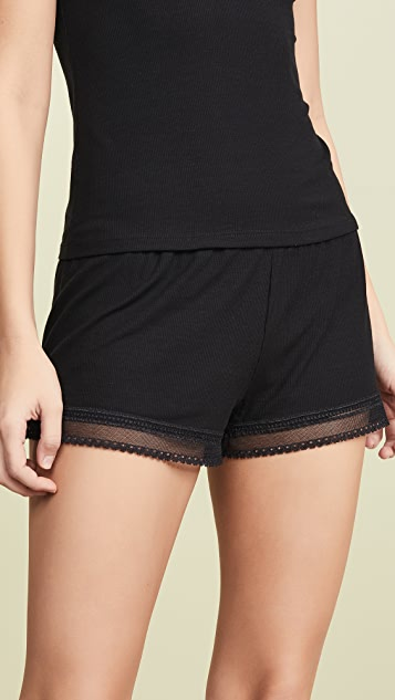 Only Hearts Feather Weight Sleep Shorts - Black
