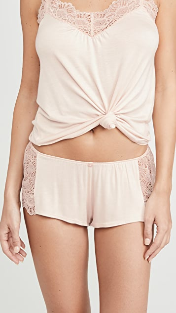 Only Hearts Venice Lace Hipster PJ Shorts