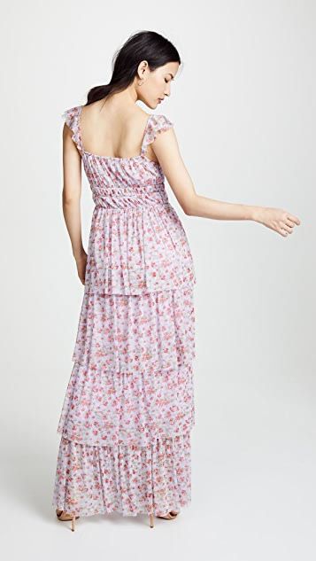 Valencia & Vine Noelle Tiered Gown