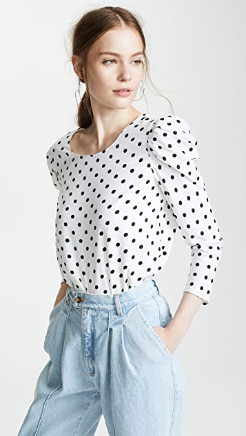 Polka Dot Blouse by Valencia & Vine
