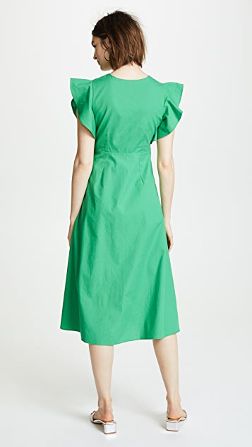 Valencia & Vine Molly Poplin Wrap Dress