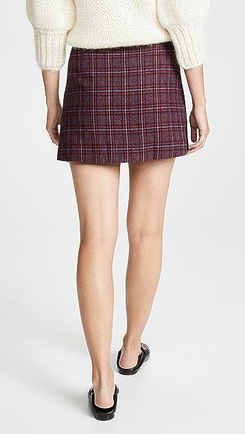 Valencia & Vine Твидовая мини-юбка