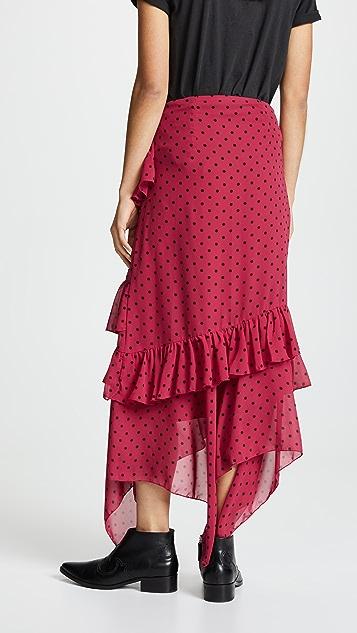 Valencia & Vine Asymmetrical Ruffle Skirt