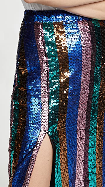 Valencia & Vine Sequin Stripe Pencil Skirt