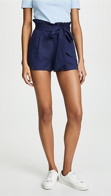 Valencia & Vine Linen Tie Waist Shorts