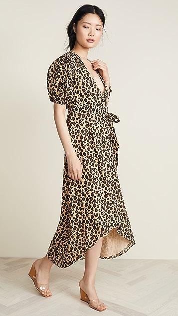 91d65a7066f Valencia   Vine Платье с запахом и леопардовым принтом ...